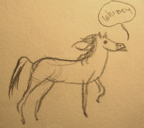 Sketch of a horse. Oh, majestic creature, so beautiful and free.