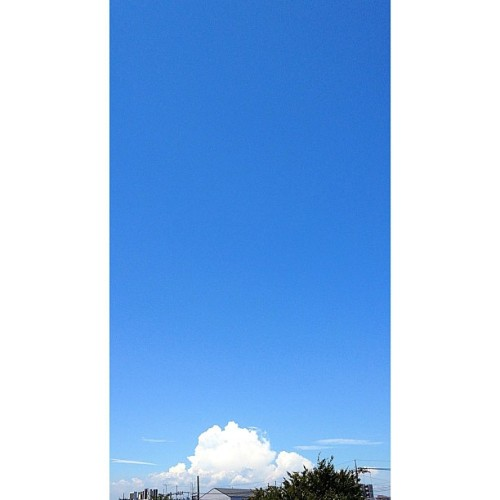 梅雨明け2012 #blue #sky #cumulonimbus #cloud (Instagramで撮影)