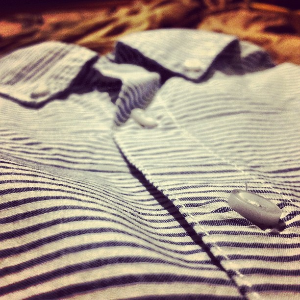 New shirt from #gap #stripes (Taken with Instagram)