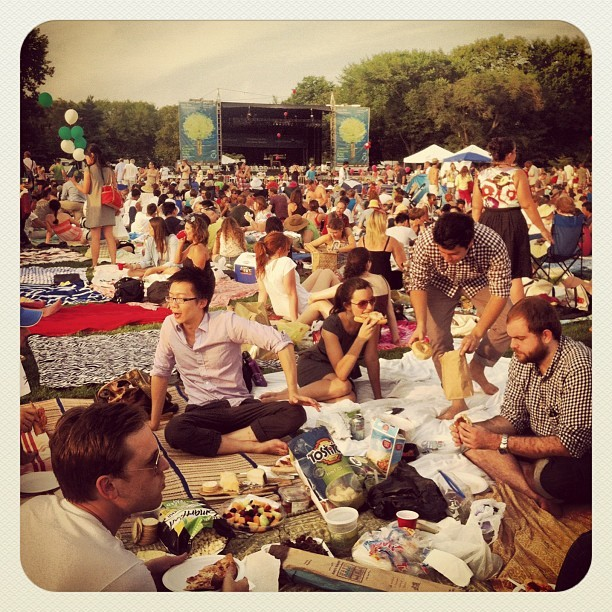 whitneytravels:  #nyc #philharmonic #centralpark #picnic (Taken with Instagram)