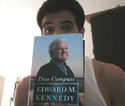 "Currently reading ""True Compass"" the memoir of the ""Lion"" himself, Ted Kennedy. I've only read 1 other biographical book (Jimi Hendrix bio, ""Room Full of Mirrors""), so I thought I'd read another to mix it up a bit. Was gonna get ""Elusive Hero"" the John F. Kennedy bio, but I came to the conclusion that even though I'm a huge fan of Ted Kennedy, I'm not that informed about his entire political career, let alone life. I've really been lacking in the whole update/review the books I'm reading department. Just checked and the last book I posted anything about on here was Carl Sagan's Cosmos; I've read 5 or 6 other books since then hahah. I literally jump from book to book without stopping, so the thought of making a post always gets forgotten. I'll try do a better job at keeping you guys updated on what I read."