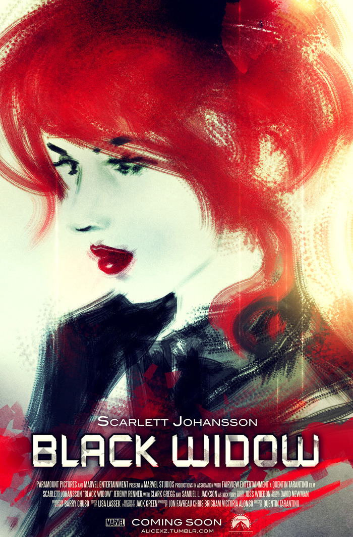Black Widow fan poster.