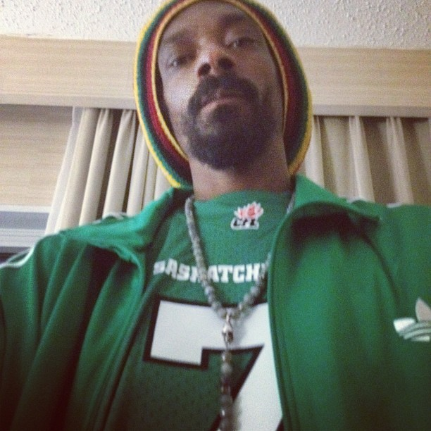 Even Snoop Dog is a Rider Fan! He tweeted this picture before his Monday night performance in Saskatoon.