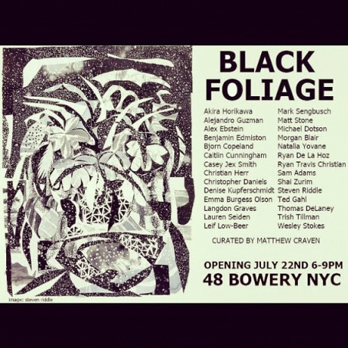 NYC get to this show on Sunday! My first NY show.  (Taken with Instagram at St-st-studio)