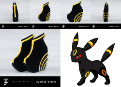 "Joco Shoes Pokemon Series #1: Umbreon Wedges  Joco Shoes Pokemon Series #1: Umbreon Wedges Product Details:Materials: Genuine suede leather, 88 stainless spike studs, Black outsole and insolePlatform Height: 4.5"" (front), 6"" (back)Sizes: US Size 5-11 (women)For orders:email: jococomendador@gmail.comcontact #: 09155831902"