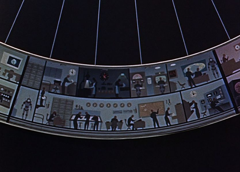 Man And The Moon, 1955 A circular space station layout. The spinning station was to create a sense of gravity to those living and working in the outer ring.