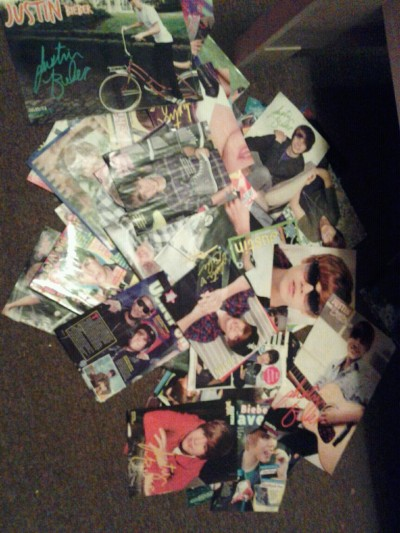 Some of my #justin bieber posters ;P