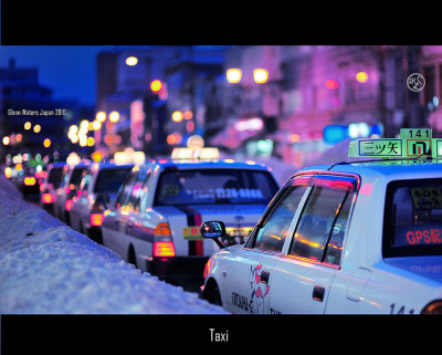 Taxi.   13,000 visits to this photo. Thank you! by Glenn Waters ぐれんin Japan. on Flickr.