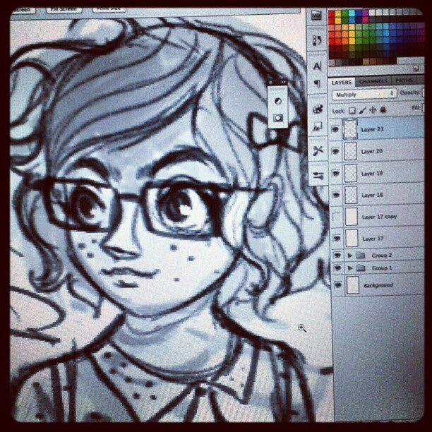 #wip rough sketch detail (Taken with Instagram)