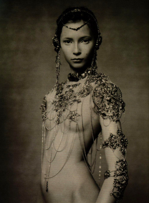 The Poetic Spirit. Tiiu Kuik in Jean Paul Gaultier Fall 2003 haute couture, photographed by Paolo Roversi for Vogue Italia, September 2003.