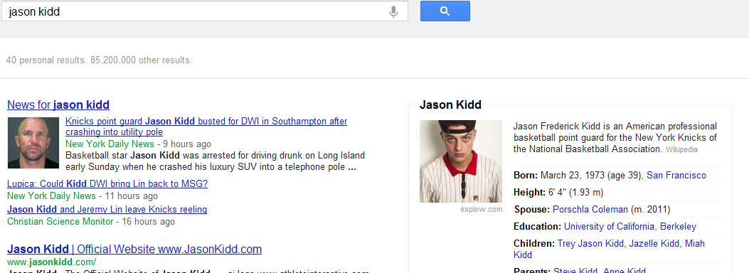 This Jason Kidd photo taken after his DUI from google images is now posted to my new site, Stat Dance - a site about sports and statistics mostly but also sports betting, fantasy basketball, and fantasy football.
