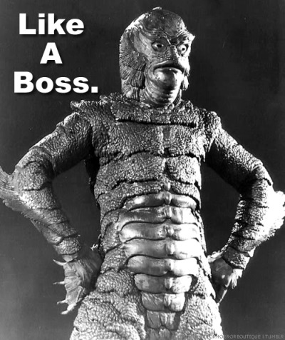 I've just been inspired to do a drawing or a Creature From The Black Lagoon re-imagined.