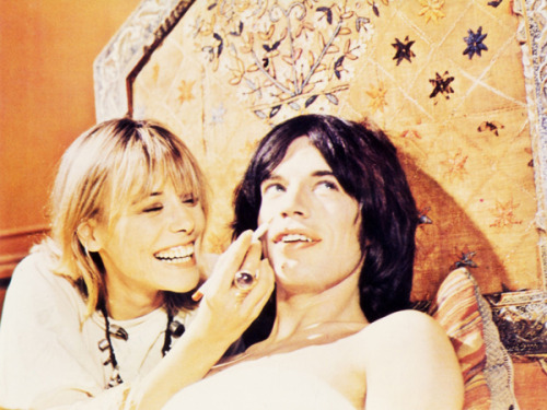 tigerlilyswimwear:  Mick Jagger and Anita Pallenberg, Performance, Morocco 1970