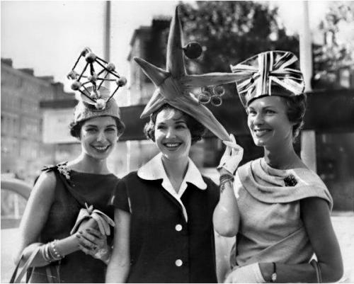 hollyhocksandtulips:  Crazy hats, 1950s