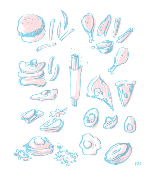 extremely quick doodle of some food i ate while on vacation!if it were more accurate, half of these doodles would have been wings. we ate so many wings…