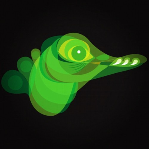 Quick vector… Dwarf Caiman Crocodile (Taken with Instagram)