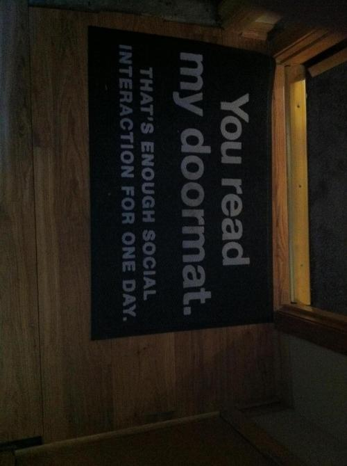 the-absolute-funniest-posts:  The official doormat of Tumblr
