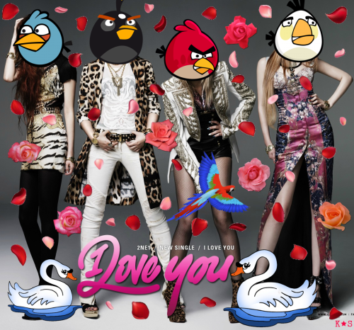 discostarking:  ♥ So, I made loving tribute to my darling 2NE1 girls and that comeback stage we will never forget! ♥ Hey, 2NE1 I totes bird you! XD