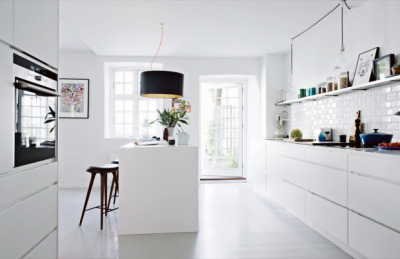 minharmoni:  Beautiful white modern kitchen.