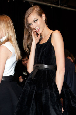 kloss-karlie:  Fall 2012 Ready-to-WearLanvin - Backstage