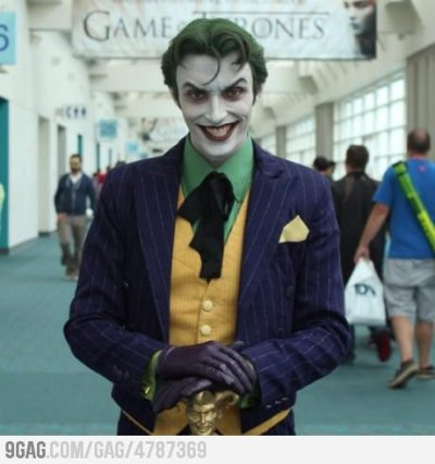 9gag:  Ridiculously Photogenic Joker