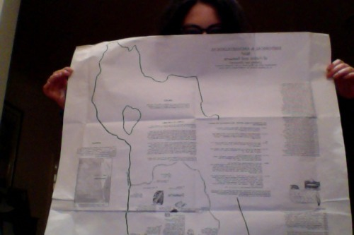 "Things I find in my Dad's study A giant map of Judea and Samaria with all the accompanying historical and archaeological information.  The map is titled ""Historical & Archeological map of Judea and Samaria. (Sometimes called the 'West Bank' or the 'Occupied Territories' in an attempt to deny the Jewish history of this area)."
