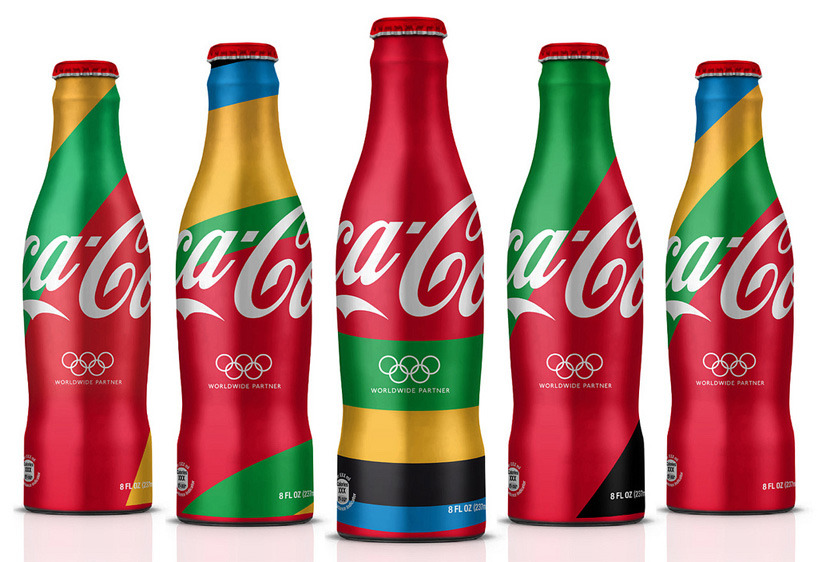 "MWM graphics and attik: london 2012 olympics coca cola branding ""the first phase of art was to create this hyper detailed, abstract rendition of COCA COLA LONDON 2012. from this master file we extracted dozens of 'moments' that became the graphic asset library."""