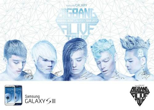"Samsung Galaxy ""Big Bang Alive Galaxy Tour 2012"" Official Poster Source: Big Bang's Official Facebook"