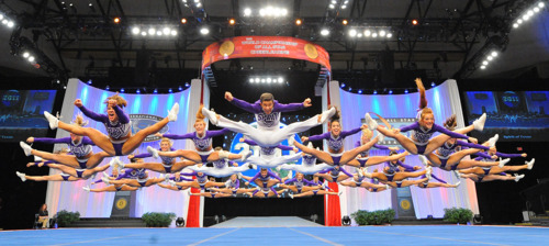 elite-and-all-star-cheerleading:  The people in the back would have point jumps in my squad. Hahaha!Spirit has beautiful timing for jumps!