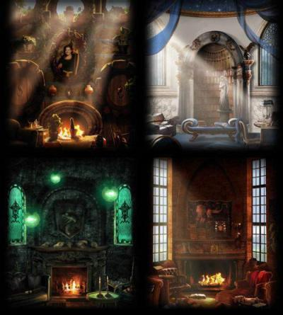 sarah-bearah71:  All 4 houses Common Rooms on Pottermore