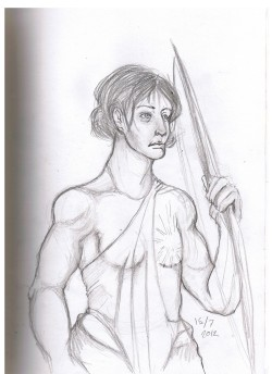 A maiden who shoots arrows, who believed that cutting of your breast would make her a better shot. She cut off the wrong one, if she is not left handed. (totally not my fault)