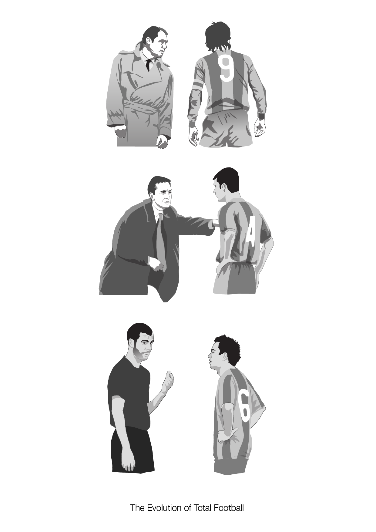 danleydon:  The Evolution of Total Football  Discovered this tumblr today. Really great artwork and ideas