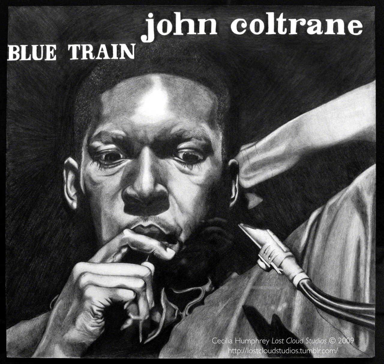 John Coltrane - Blue Train  (2009) Cecilia Humphrey. Graphite on Paper.