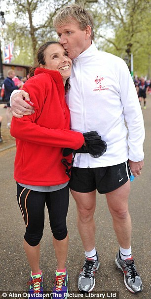 Gordon & Tana Ramsay - London Marathon 2012 and for the record, article, not embarrassing at all!