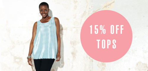 Top off your style with a uber-cool top from Style369.com. Whether you're after a bright and breezy tee or a high-shine foil top, we've got them all! And if the weather is getting you down, this offer will cheer you up - there's now 15% off our tops. So get that Summer wardrobe in gear and add a new top in the mix. Click here to get shopping!