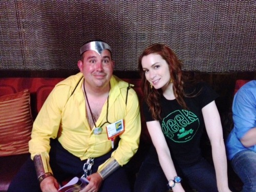 meeting Felicia Day as Luke Cage and she was AWESOME…..yeah I did that right :)  My buds and I went to comic con and hung out a lot at the Geek and Sundry HQ and the cast of the guild could not have been nicer.  Took a ton of pics, shook hands, had cocktails, everyone was great to us.