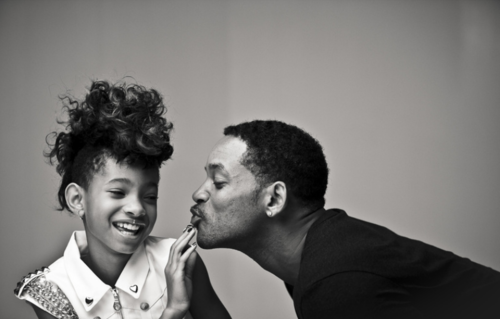 Will Smith and Willow Smith…aww really cute.