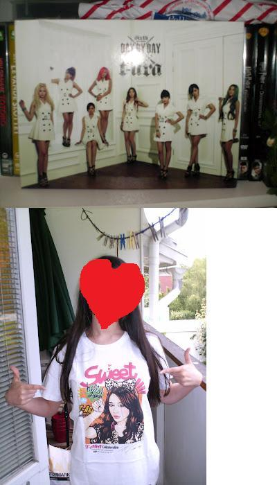 Got my T-ara stuff today! Yay!I really love the t-shirt! Jiyeon <3 Oh my poor camera, why do you hate to live? *sobs*
