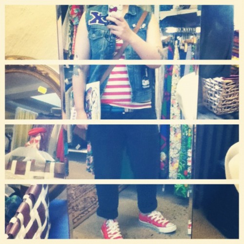 #whatiwore today. #outfit #clothes #straightedge #sxe #red #converse #chucks (Taken with Instagram)