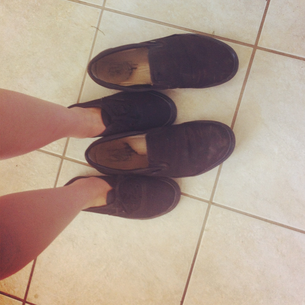 Awh my vans are so little compared to Cody's!