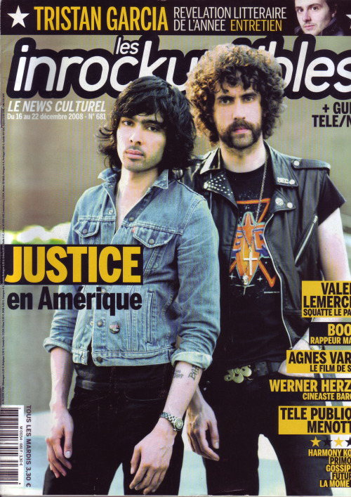 edpress:  Les Inrockuptibles December 2008