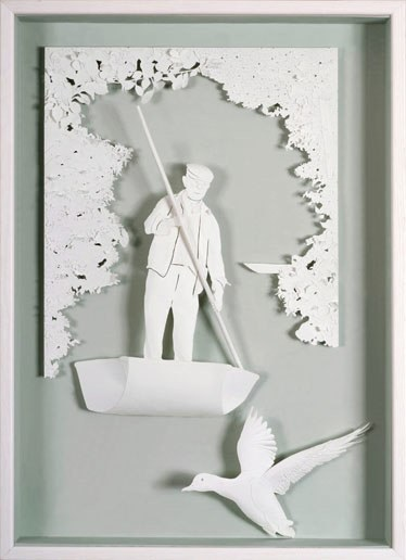 paperism:  Wonderful paper art by Daniel Mar.