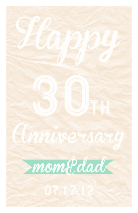 vualex907: Happy 30th Anniversary Mom and Dad :)