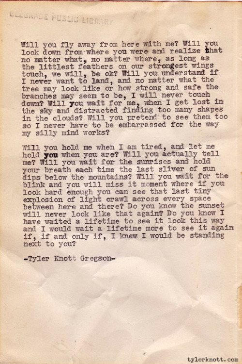 Typewriter Series #113 by Tyler Knott Gregson