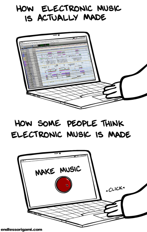 laughingsquid:  How Electronic Music Is Made  Bitches best be taking notes.