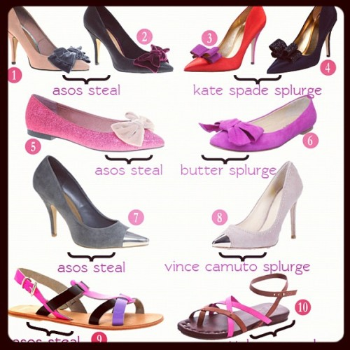 New on www.lifeonthesquares.com: #Tuesday #Shoesday! #shoes #heels #bows #steal #splurge #asos #fashion #flats #sandals #instafashion #instastyle #instafollow #followme #tuesdayshoesday #fashionblog #fashionblogger #blogger  (Taken with Instagram)