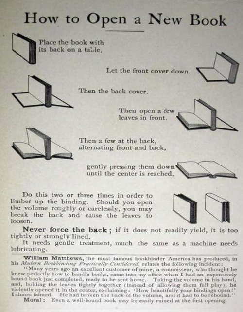 How to open new book.