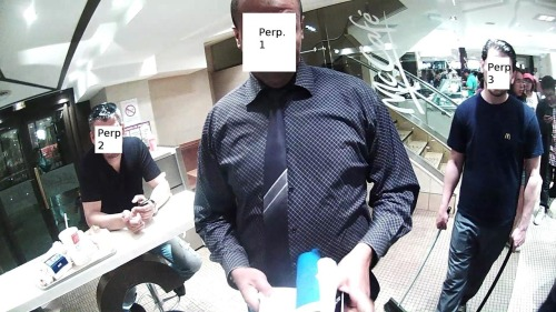 """Father of wearable computing"" assaulted in Paris McDonald's Steve Mann, a professor and technologist who has worn computing devices of some kind for the last 34 years, recently found himself in a pretty dangerous spot at a McDonald's in Paris. Apparently freaked out that Mann had a camera, a group of three men (shown above) physically assaulted him. ""He angrily grabbed my eyeglass, and tried to pull it off my head,"" Mann explained in a blog post. ""The eyeglass is permanently attached and does not come off my skull without special tools."" Due to the attack, the camera was damaged and started taking and storing photos of what he was viewing, giving him an opportunity to show photos of who was behind the attack. Since the post went up yesterday, Reddit has banded around Mann and TechCrunch called for a boycott of McDonald's. Seriously. Mann suggests that McDonald's might be the one that has to change: ""As this technology becomes mainstream, McDonald's might need to get used to it."" io9 called this a ""cybernetic hate crime."" Is it?"