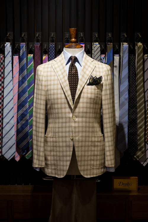 thearmoury:  Ring Jacket, Drake's - brown polkadots