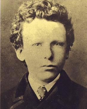 A photograph of Vincent van Gogh at age 13. Look at those old soul eyes.